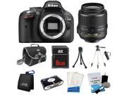 Nikon D5200 24.1MP 60FPS Full HD DSLR Black Camera + 18-55mm VR Lens + 8GB + Card Reader + Case & More - New