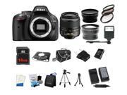 Nikon D5200 24.1MP 60FPS Full HD DSLR Black Camera + 18-55mm VR 3 Lens Kit Bundle + 16GB + Card Reader + Flash + More