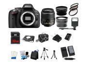 Nikon D5200 24.1MP 60FPS Full HD DSLR Black Camera + 18-55mm VR 3 Lens Kit Bundle + 32GB + Card Reader + Flash + More