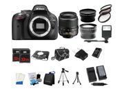 Nikon D5200 24.1MP 60FPS Full HD DSLR Black Camera + 18-55mm VR 3 Lens Kit Bundle + 64GB + Card Reader + Flash + More
