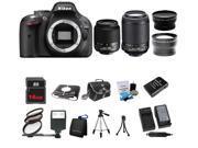 Nikon D5200 24.1MP 60FPS Full HD DSLR Black Camera + 18-55 VR + 55-200mm 4Lens Kit Bundle + 16GB + Filters + Case + Extra Battery