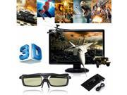 144Hz 3D DLP-Link IR Active Shutter Rechargeable Glasses for BenQ/NEC/Optoma New 9SIAASP40B4371