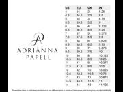 Adrianna Papell Aiden Platform Strappy Evening Sandals Platino 6.5 US 36.5 EU