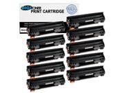 DigiToner 10PK CRG128 (3500B001AA) Black Toner Cartridge for Canon ImageCLASS MF4412, MF4420n, MF4450, 4550d, MF4570dn, MF4570dw, MF4580dn