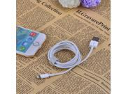 MFi D8 USB Male to Lightning Data Sync / Charging Cable for iPhone 6 / iPad / iPod - White (100cm)