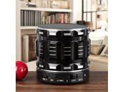 S28 Portable Mini Metal Bluetooth Speakers with Fm Radio Hands-free Calls Support TF Card - Black