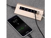 Universal Multifunction 2.4A/1.6A 6-Port USB Smart Charger HUB w/ LED Indicator Light - Golden (EU Plug)