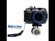 Underwater digital camera case Deepview up to 263 feet for Nikon camera S3600 + Flashlight LF 300W