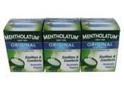 Mentholatum Original Ointment 3 oz. Topical Analgesic Rub with Aromatic Vapors 100% Natural - 3 Pack  (9 oz total)