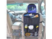 TFY Car Seat-back Caddy - Multi-Pocket Storage with Headrest Mount for Portable DVD Player
