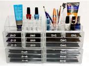 Clear Acrylic Makeup Organizer Combo 6 sets