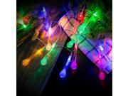 Outdoor Led String Lights Avinee RGB Raindrop Designed Outdoor Indoor String Lights Décor Rope Lights For Seasonal Decorative Christmas Holiday Wedding Parti