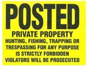 The Hillman Group 845771 11 Inch By 11 Inch Tyvek Sign Posted Private Property