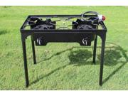 CONCORD Double Burner Outdoor Stand Stove Cooker Manual Igniter w/ Regulator Brewing Supply