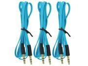 Car Audio Stereo Aux Cord 3.5mm Cable for Apple iPod Iphone Samsung & PC, 3-Pack