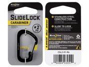 NITE IZE CSL2 01 R6 Locking Carabiner Clip Black 1 3 32 in