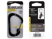 NITE IZE CSL4 01 R6 Locking Carabiner Clip Black 2 in.