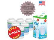 (6-Pack) GE MWF Compatible Refrigerator Water and Ice Filter 9SIA5N11UH8797