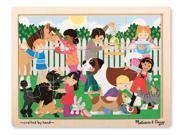 Best Friends Wood 12 pcs. - Wooden Puzzle by Melissa & Doug (9069)