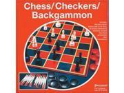 Chess / Checkers / Backgammon - Board Games by Pressman (1907-06)