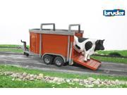 Cattle Trailer with Bull - Vehicle Toy by Bruder Trucks (02029)