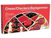 Chess & Checkers & Backgammon - Board Game by Pressman (1113-12)