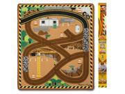 Round the Construction Zone Rug & Vehicle Toy by Melissa & Doug (9407) 9SIV16A66X6817