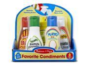 Favorite Condiments Set of 6 - Kitchen Play Toy by Melissa & Doug (4317)