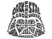 Star Wars Typographic Darth Vadar Peel and Stick Giant Wall Decals