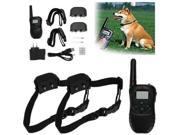 Dog Training Collars, FrontTech Rechargeable Waterproof LCD 100 Level Shock Vibration and 100 Level Static Shock Remote with 2 Dog Training Shock Collars 9SIA5NZ6E74029