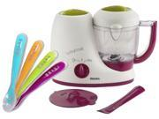 Beaba Babycook Classic Baby Food Maker with Silicone Spoons, Gipsy