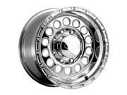 Raceline 887 Rock Crusher 17x9 6x139.7 +0mm Polished Wheel Rim