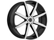 Akuza 843 Zenith 18x8 5x114.3/5x120 +20mm Black/Machined Wheel Rim
