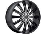 Avenue A610 18x7.5 4x100 4x114.3 40mm Black Machined Wheel Rim