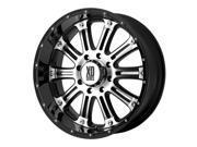 XD Series XD795 Hoss 20x9 6x135 +30mm Black/Machined Wheel Rim