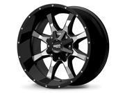 Moto Metal MO970 17x8 8x180 +0mm Black Wheel Rim