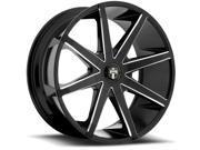 Dub S109 Push 19x8.5 6x132 +30mm Gloss Black/Milled Wheel Rim