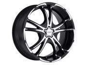 Forte F50 Twisted 18X8 5x108/5x115 +40mm Black/Machined Wheel Rim