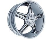 Forte F56 Legend 22X8.5 5x112/5x108 +35mm Chrome Wheel Rim