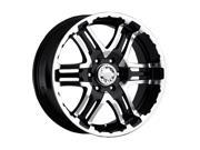 Gear Alloy 713MB Double Pump 16x8 5x114.3 5x4.5 0mm Black Machined Wheel Rim