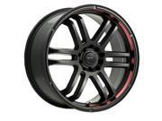 Drifz 207B FX 16x7 5x100/5x114.3 +42mm Black Wheel Rim