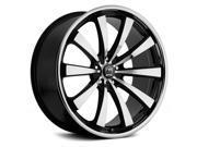 Motiv 407CB Majestic 20x10 5x115/5x120 +25mm Chrome/Black Wheel Rim