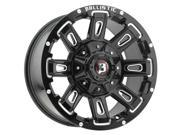 Ballistic 958 Ravage 22x9.5 6x114.3 6x139.7 12mm Black Milled Wheel Rim
