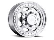 Vision 181H Hauler Dually 19.5x6.75 8x170 +102mm Machined Wheel Rim