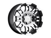 "Vision 375 Warrior 15x7.5 5x4.75"" -12mm Black/Machined Wheel Rim"