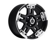 Vision 394 Warlord 17x8.5 8x170 -12mm Black/Machined Wheel Rim