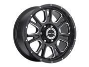 "Vision Off-Road 399 Fury 18"" (18x8.5) 6x135 +25mm Gloss Black/Milled Wheel Rim"