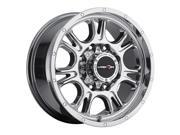"Vision 399 Fury 17x8.5 5x127/5x5"" +25mm PVD Chrome Wheel Rim"