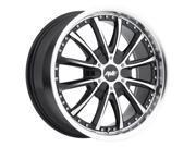 Avenue A611 22x9.5 6x139.7 6x5.5 35mm Black Machined Wheel Rim