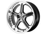 Lorenzo WL21 18x9.5 5x112 +48mm Black/Machined Wheel Rim